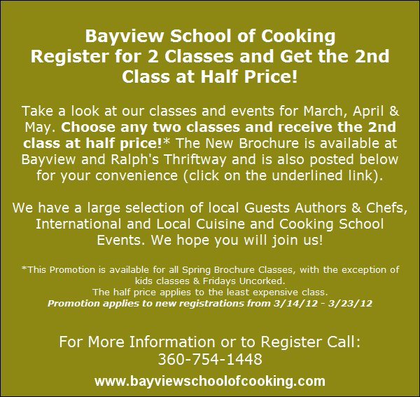 Register for 2 Classes and Get the 2nd Class at Half Price!